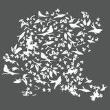 Birds in a Thicket Wall Stencil