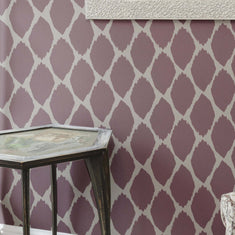 Acacia Ikat on Wall Stencils