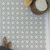 Greenwich Key Wall Stencil on Floor Stencils