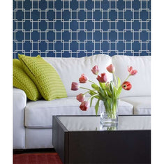 Mod Link Wall Painting Stencil Living Room