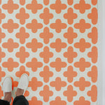 Quatrefoil Wall Stencil used as Tile Stencils