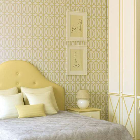 Wall paint stencils casual cottage for Paint templates for walls