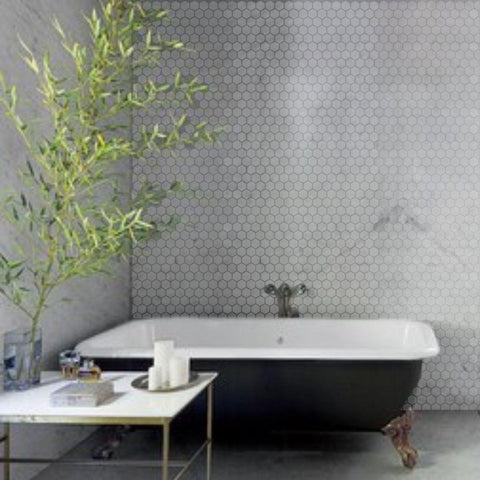Hex Tile Wall Stencil
