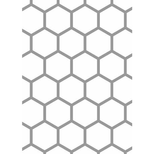 Hex Tile Accent Stencil For Decorative And Craft Painting