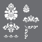 Brighton Damask Wall Stencil