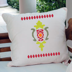 Pillow Stencils Ikat Design