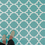 Meknes Wall Stencil used as floor stencils and tile stencils