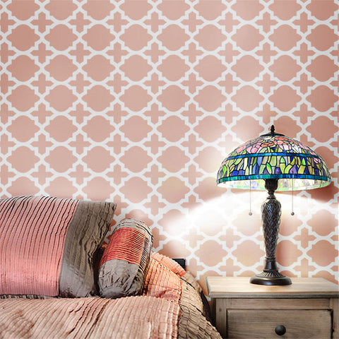 Meknes Wall Painting Stencil Bedroom