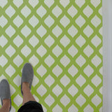 Amina Wall Stencil design Painted as Tile Stencils