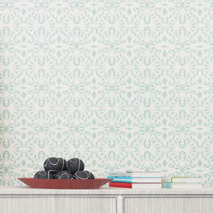 Malay Wall Painting Stencil Sideboard
