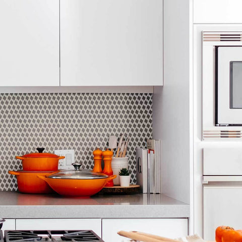 Ascot Houndstooth Wall Stencil