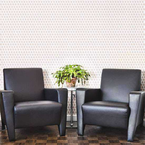 Ascot Houndstooth Wall Stencil Painted on a Wall