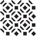 Alden Geometric Wall Painting Stencil Mylar Detail