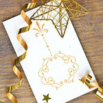 Victorian Ornament Holiday Stenciled Greeting Card