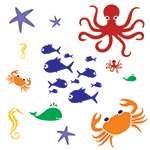 Little Explorers Sea Collection Wall Painting Stencils