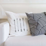 Native Arrows Stencil on Pillow Stencils