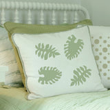 Philodendron Stencil on Pillow Stencils