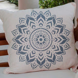 Boho Medallion Pillow Stencils