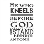 He Who Kneels Stencil