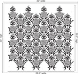 Antique Pineapple Wall Stencil