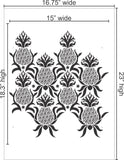 Antique Pineapple Stencil size Small