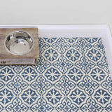 Bohemian Tile Stencil as floor stencils