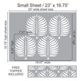 Palm Fronds Wall and Floor Stencil