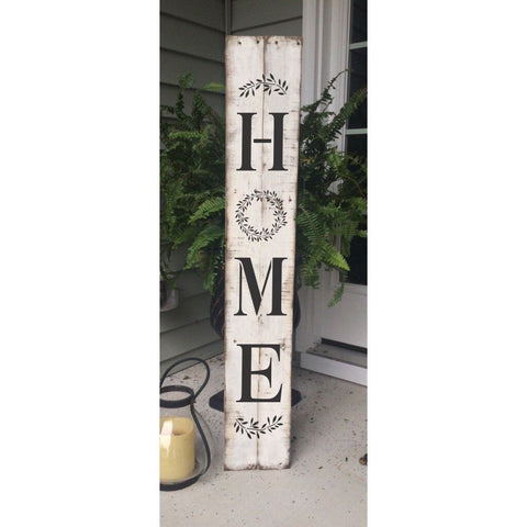 Home Laurel Leaves Vertical Porch Stencil. Create your own porch sign today!