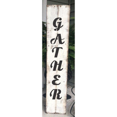 Gather Script Vertical Porch Stencil