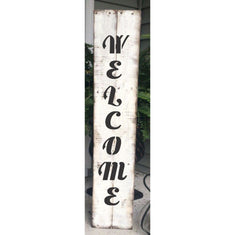 Welcome Script Vertical Porch Stencil. Paint your own porch leaner sign today!