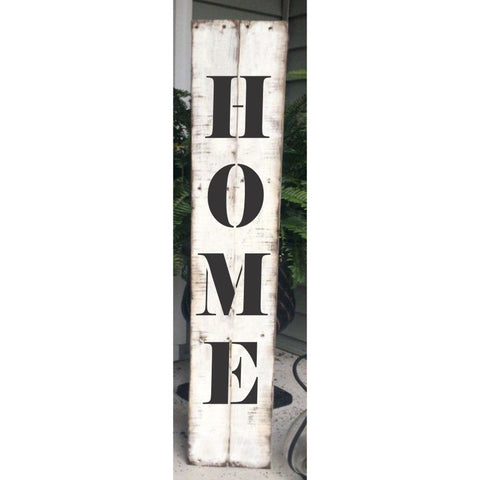 Home Vertical Porch Stencil. Make your own porch sign today!