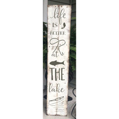 Life at the Lake Vertical Porch Sign Stencil