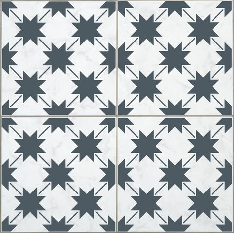 Farmhouse Star Tile Stencil