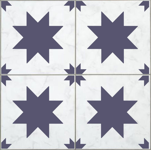 Farmhouse Stars Tile Stencil