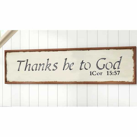 Thanks to be God Sign