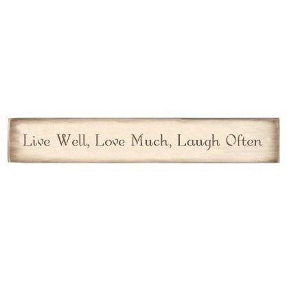 Live Well, Love Much, Laugh Often Stencil