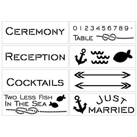 Nautical Wedding Stencil Kit