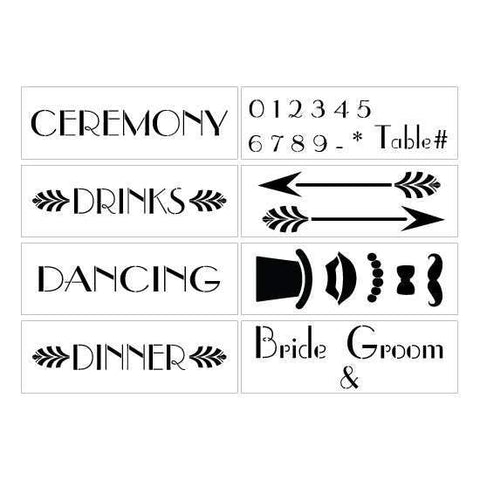 Table Wedding Stenciled Sign
