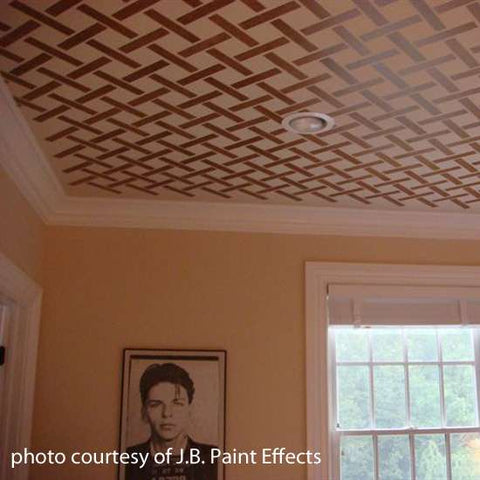 Large Lattice Wall Stencil