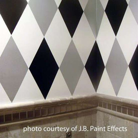 Large Harlequin Wall Stencil