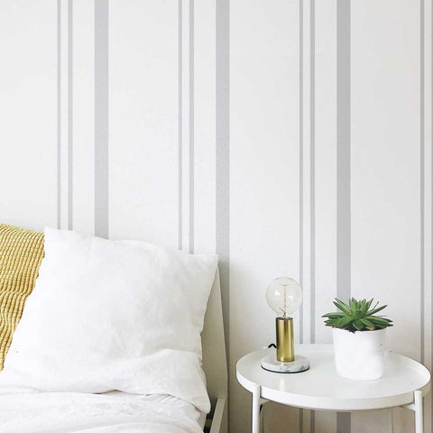 Linen Stripes Wall Stencil by Oak Lane Studio