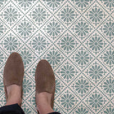 Floral Punched Tin Floor Stencils
