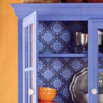 Floral Punched Tin Furniture Stencils