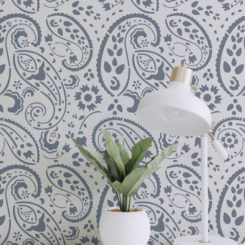 Avant Garde Paisely Wall Stencil