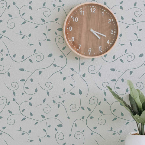 Vine Scroll Wall Stencil