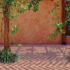 Herringbone Brick Wall, Patio