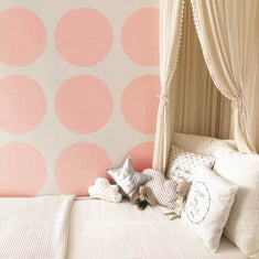 Large Polka Dots Wall Stencil