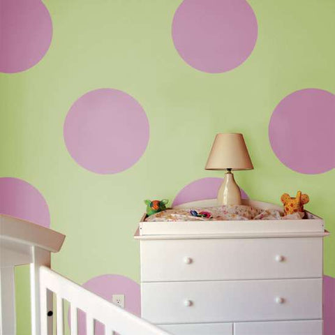 Large Polka Dots Wall Painting Stencil
