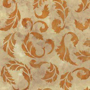Acanthus Stencil Faux Finished Painted
