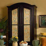 Avant Garde Paisely Stencil Painted on Armoire